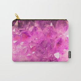 Pink Geode Carry-All Pouch