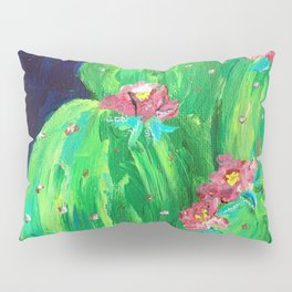 Flowering Prickly Pear Cacus Pillow Sham