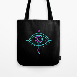 Eye of awakening black version Tote Bag