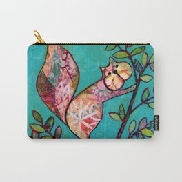 Squirrel mixed media Carry-All Pouch