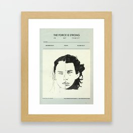 Star Crossed Siblings theory Framed Art Print