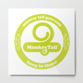 Monkey Tail Gear Logo - 002 Green Metal Print