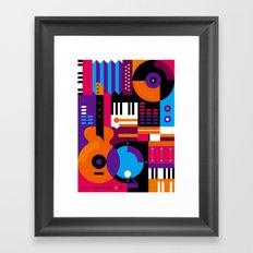 Music Mosaic Framed Art Print
