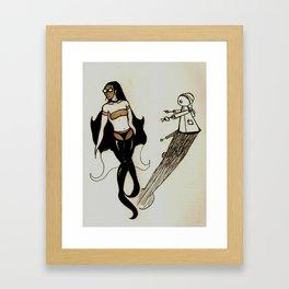 Spirit, Flesh, and Mechanical Desire (print) Framed Art Print