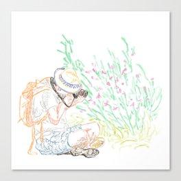 Flower Photographer Canvas Print