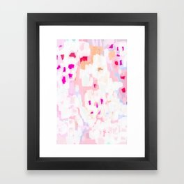 Netta - abstract painting pink pastel bright happy modern home office dorm college decor Framed Art Print