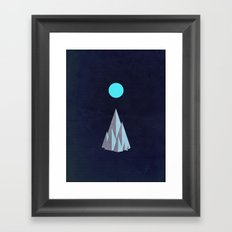 Minimal Mountains Framed Art Print