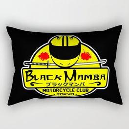Black Mamba Motorcycle Club Rectangular Pillow