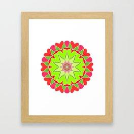 Elegant mandala Framed Art Print