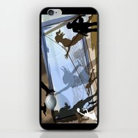 volleyball iPhone & iPod Skins featuring Anyone For Volleyball? by Robin Curtiss