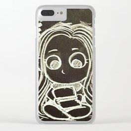 Cute Gamer Girl Clear iPhone Case