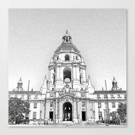 City Hall Pasadena. Canvas Print