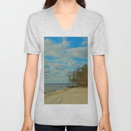 Louisiana Beaches Unisex V-Neck