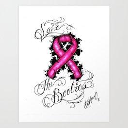 Save The Boobies Art Print