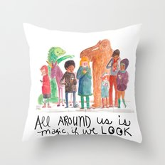 Look up, people! Throw Pillow