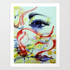 Open the Eyes of My Heart Art Print