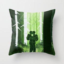 Sterek Forest Love Throw Pillow