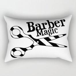 Barber Magic - black and white Rectangular Pillow