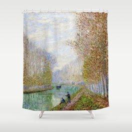 River Seine, Autumn, Paris, France by Francis Picabia Shower Curtain