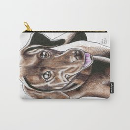 Momo The Chocolate Labrador Carry-All Pouch