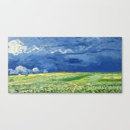 Wheatfield under thunderclouds by Vincent van Gogh Canvas Print