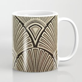Golden Art Deco pattern Coffee Mug
