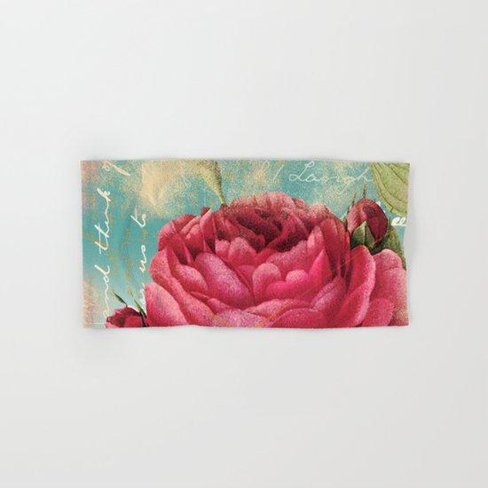 Vintage Flowers #16 Hand & Bath Towel