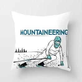 Ski Mountaineering Skiing Winter Sports Lover Gift Throw Pillow