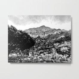 Black & White Italy Metal Print