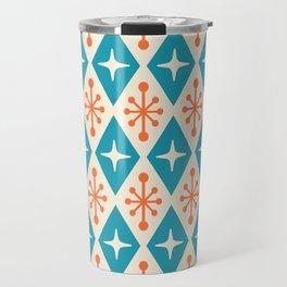 Mid Century Modern Atomic Triangle Pattern 107 Travel Mug