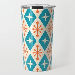 Mid Century Modern Atomic Triangle Pattern 107 Travel Mug