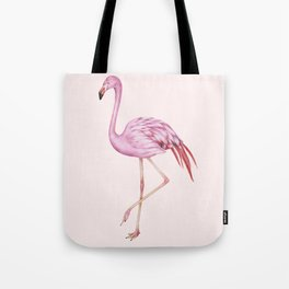 Blush Pink Watercolor Flamingo Art Tote Bag