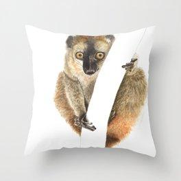 Hanging with a Lemur Throw Pillow
