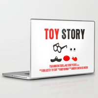 toy story Laptop & iPad Skins featuring Toy Story Movie Poster by FunnyFaceArt