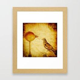 The lemon and the crow Framed Art Print