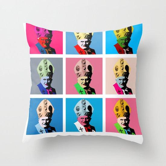 Pope art Throw Pillow