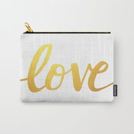 Love Gold Carry-All Pouch