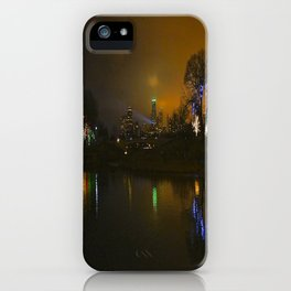 Christmas Lights, City Lights, Spot Lights: A Chicago Tableau (Chicago Christmas/Holiday Collection) iPhone Case