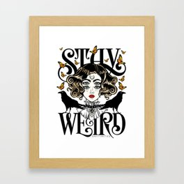Rose and The Ravens | Stay Weird Framed Art Print
