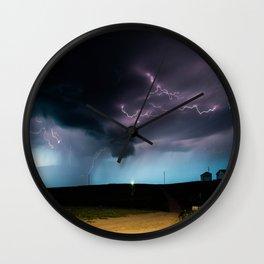 Ocean of Lightning Wall Clock