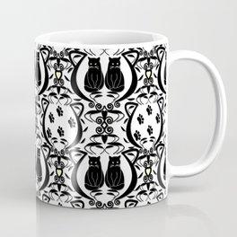 Midnight Cat Does Damask  Coffee Mug