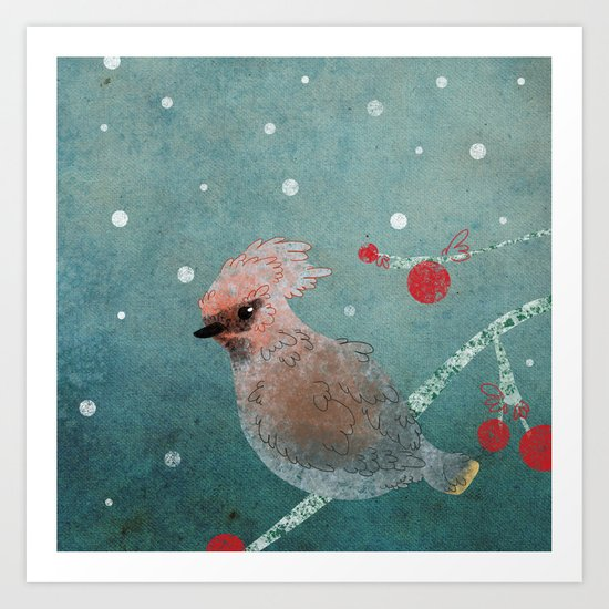 Tweet in the Snow Art Print