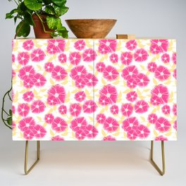 12 Sketched Mini Flowers Credenza