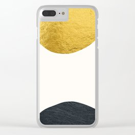 Golden sun warms the cold planet Clear iPhone Case