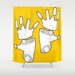 Puzzle Hands Shower Curtain