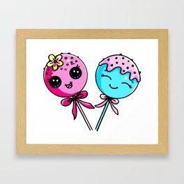 Couple Cake Pops Framed Art Print