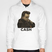 johnny cash Hoodies featuring Johnny Cash by Philipp Banken