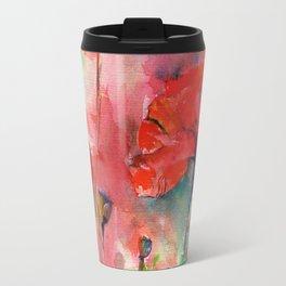 poppies aquarel watercolor wall art Travel Mug