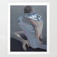 Untitled II. 2014 Oil on Canvas 70 x 90 cm Art Print