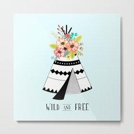 A Wild Child's Home Metal Print
